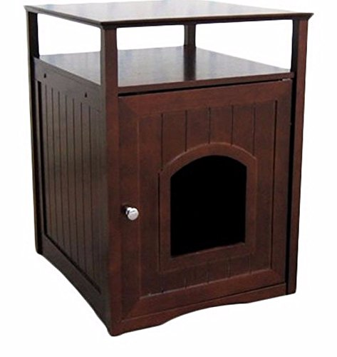 ver House Litter Box End Table Furniture Nightstand Walnut New (Beadboard Toy Boxes)