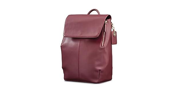Amazon.com   Samsonite Ladies Leather Hamptons Backpack Sangria   Casual Daypacks