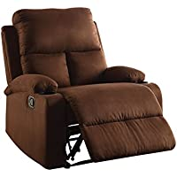 ComfortScape Modern Recliner Chair with Cup Holder, Chocolate Microfiber