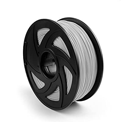 Areyourshop ABS 3D Printer Filament 1.75 mm,1kg Spool 2.2lbs, Dimensional Accuracy +/- 0.03mm,for 3D Printers,3D printing Pen Gray