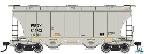 (39' Trinity 3281 2-Bay Covered Hopper - Ready-to-Run -- Wells Fargo First Union Rail WSOX 804803 (gray))