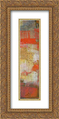 Small Patterned Candelabra I 28x36 Gold Ornate Frame and Double Matted Art Print by Harper, Ethan