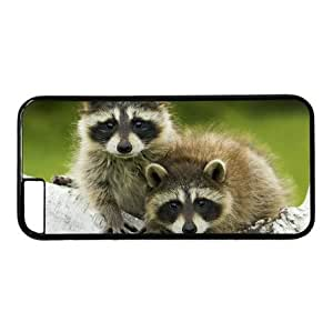 """Lilyshouse Baby Raccoon 006 Hard Shell with Black Edges Cover Case for Iphone 6 Plus(5.5"""")"""