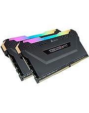 ذاكرة تخزين جهاز كمبيوتر مكتبي عشوائية ار جي بي من كورسير فينجانس بسعة 16 جيجابايت (2 × 8 جيجابايت) من النوع دي دي ار 4 وتردد 2666 ميجاهرتز سي 16 - لون اسود 2 x 8 GB CMW16GX4M2A2666C16