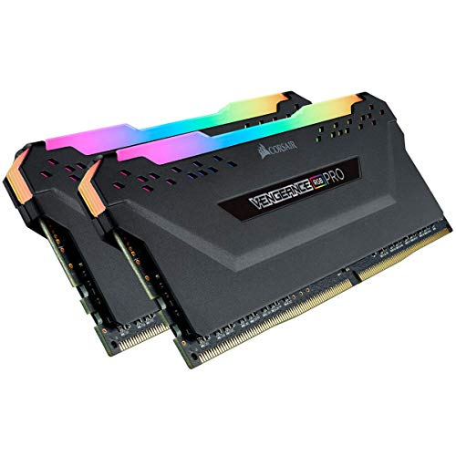 Corsair CMW32GX4M2A2666C16 Vengeance RGB PRO 32GB (2x16GB) DDR4 2666 (PC4-21300) C16 Desktop Memory Black