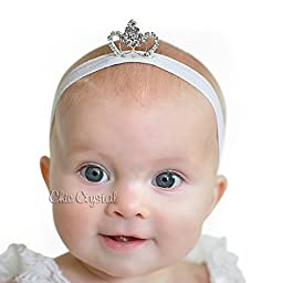 White Lace Romper SET with Tiara Headband 6-12month Baby Girls (6-12months)