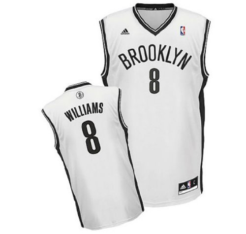 Deron Williams # 8 Brooklyn Nets Youth Kids Size Small White Jersey NBA Authentic & NEW Deron Williams Replica Jersey
