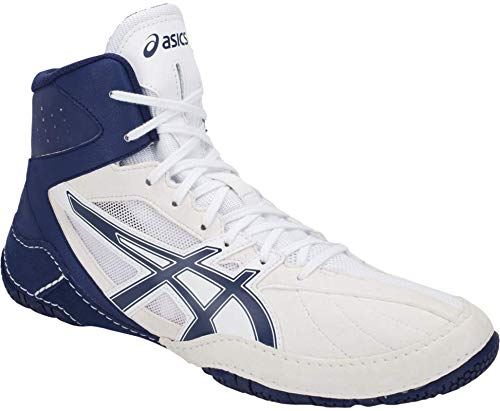 ASICS Matcontrol Men's Wrestling Shoe, White/Indigo Blue, 9.5 M US (The Best Wrestling Shoes)