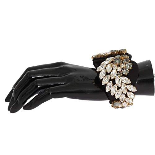 Dolce & Gabbana Black Silk Clear Gray Crystal -