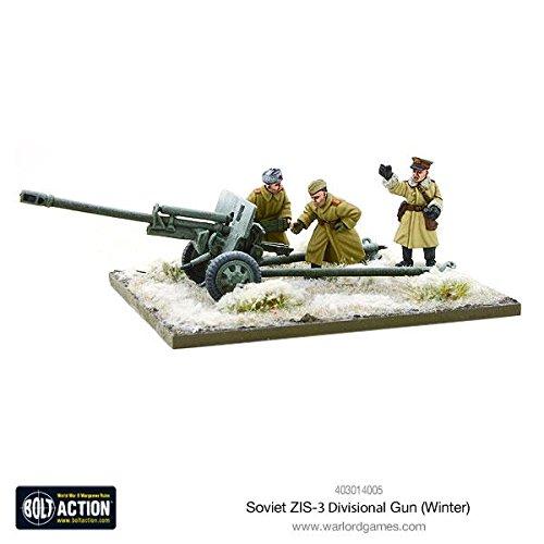Bolt Action Soviet Zis-3 Divisional Gun (winter) Blister - Metal