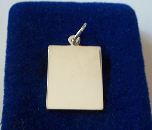 Sterling Silver 24x17mm Engravable Vertical Rectangle Tag Charm! Jewelry Making Supply, Pendant, Charms, Bracelet, DIY Crafting by Wholesale Charms