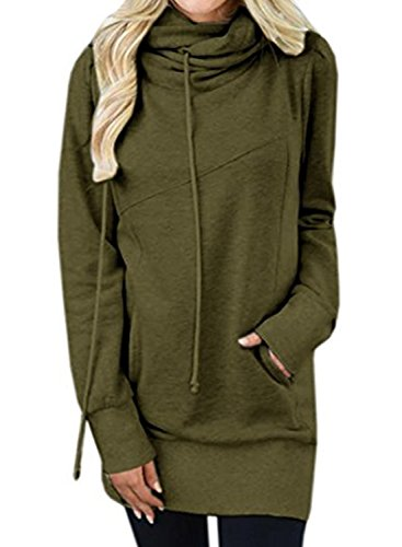 HOTAPEI Sleeve Pullover Kangaroo Sweatshirt