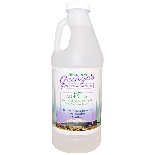 Georges Aloe Liquid - George's Aloe Vera, 100% Aloe Vera Liquid, 32 fl oz (.94 l)