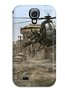 New TIExiIY4802Vvtuu Helicopter Military Man Made Military Skin Case Cover Shatterproof Case For Galaxy S4