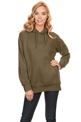 Simlu Fleece Pullover Hoodies Oversized Sweater Reg and Plus Size Sweatshirts, Army Green, Small
