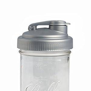 reCAP Mason Jars POUR, Wide Mouth, Canning Jar Lid, Silver