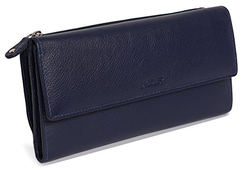 SADDLER Womens Leather Trifold Wallet