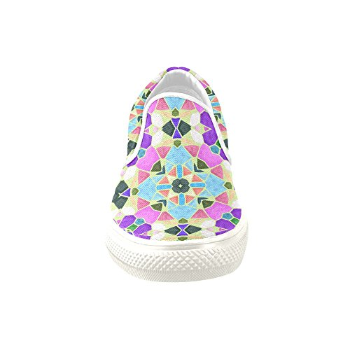 D-story Custom Sneaker Caleidoscopio Tribale Floreale Donna Insolito Slip-on Scarpe Di Tela