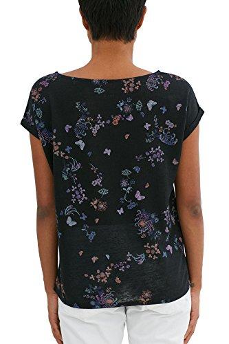 Maniche Corte a Maglietta Esprit Donna Black Multicolore by edc Iw4qPXxHS