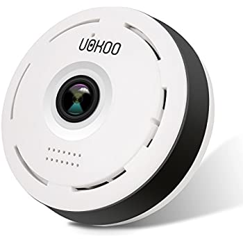 960P IP Camera, Wifi 360 Degree Indoor Security Surveillance Network IR Wireless Wifi Security Camera with IR Night Vision Night Vision/2-way Audio/Motion Detection (White