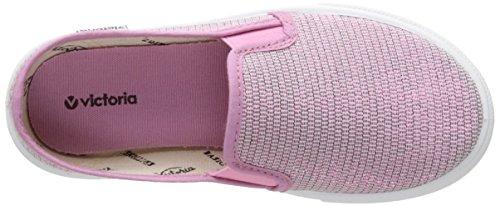 Victoria Slip On Tejido Lurex - Zapatillas de deporte Unisex Niños Rosa - Rose (42 Rosa)