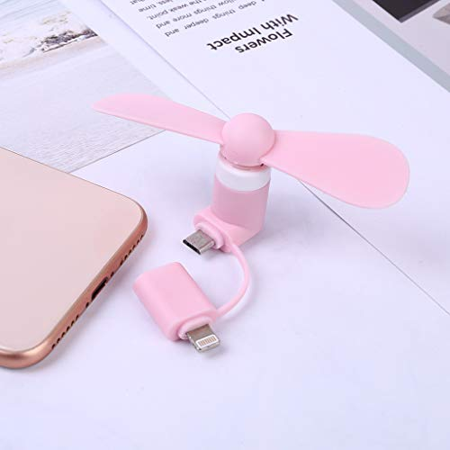 Gotian Mini Micro USB Electric Fan Phone Silica Gel Fan Leaf Material Easy to Install Complete Edge Protection for iPhone 5/5s/5c/6/6 Plus/SE/Android