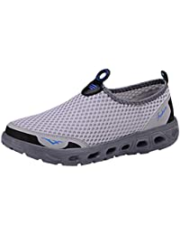 Unisex Mens Womens Water Shoe, Summer Breathable Mesh Quick Drying Slip-On Beach Sandals
