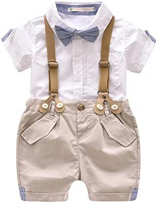 Evelin LEE Kid Baby Boy Gentry Clothes Set Formal Party Wedding Tuxedo Waistcoat Outfit Suit