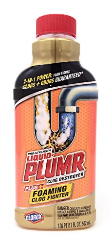 Ace Liquid - Liquid Plumber Clog Destroyer with Foaming Clog Fighter - 17 Ounces