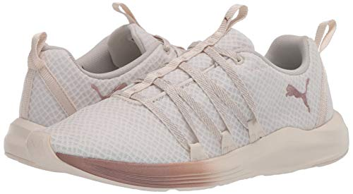 PUMA Women's Prowl Alt Sneaker, White-Rose Gold, 9 M US