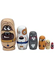 Ultnice Russische Nesting Dolls 6-delige Matryoshka kleurrijke stapels speelgoed pop