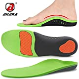 Ailaka Orthotic Cushion Arch Support Shoe Insoles, Unisex Daily Shock Absorption Gel Sports