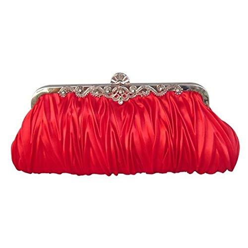 La Color De Noche Seda La Bolsas De De Bronce Bolso Volantes De Bolsas De Mujer De De Rojo De Bolso Rojo Cristal Cuerpo Satén De Cruzan El Boda Clásicos De Mano Bolsos De Imitación Diamantes Color Rosa De Gran Capacidad De Qztg Totalizador Swvxp76qH