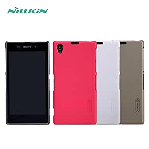 Deal4U Nillkin Frosted Hard Case Back Cover Case For Sony Xperia Z1 / L39H Gift Screen Protector #-# Color#=Red