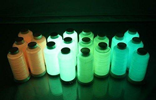 5Spulen Stickgarn mit Leucht-Polyester, leuchtet im Dunkeln, Stickerei, Nähmaschine, 500m/Spule