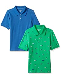 Amazon Essentials Boys' 2-Pack Uniform Pique Polo