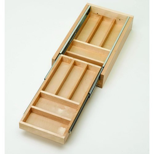 Rev-A-Shelf 4WTCD-15-1 11.63 Two-Tiered Wood Cutlery Drawer, Natural by Rev-A-Shelf