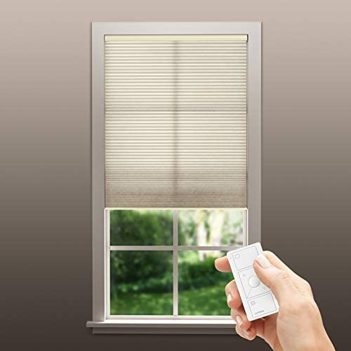 Serena Smart Shades by Lutron Custom Automated Window Blinds Light Filtering, Inside Mount Shell