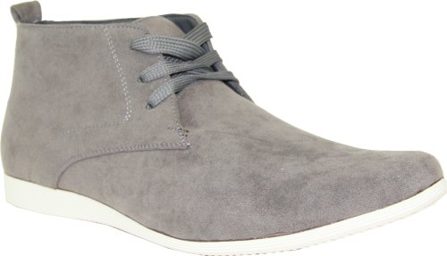 CORONADO Men's Casual Boots CODY-9 Faux Suede Soft Comfort Desert Boots with an Almond Toe Grey 7.5M