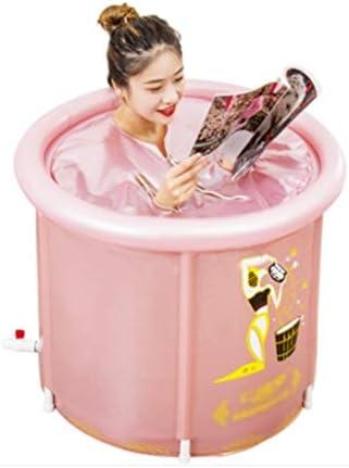インフレータブルバスタブ/アダルト折りたたみ風呂バレル/バスタブ/ホーム暖かい折りたたみバス/太いに耐摩耗性の子供のバスタブを温めます,ピンク,70*75*70cm