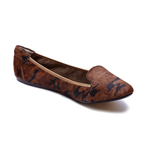 Cocorose London Plegable Zapatos - Farringdon Damas Ballet Zapatos Camuflaje Marrón
