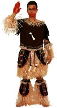 Disfraz de Indio del Amazonas, con Flecos. Hombre, talla única ...