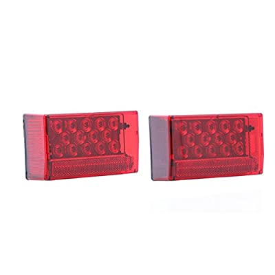 Optronics TLL56RK Red Rectangular LED Combination Tail Light Kit: Automotive