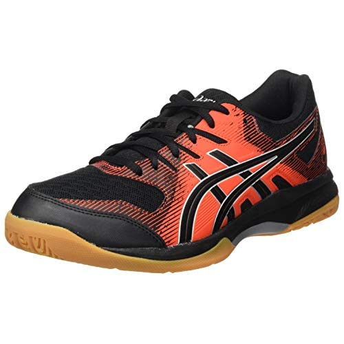 chollos oferta descuentos barato Asics Gel Rocket 9 Sneaker Hombre Black Fiery Red 47 EU