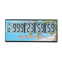 AIMILAR 999 Days Digital Countdown Clock Days Timer LCD Lab Retirement Cooking Kitchen (Retirement)