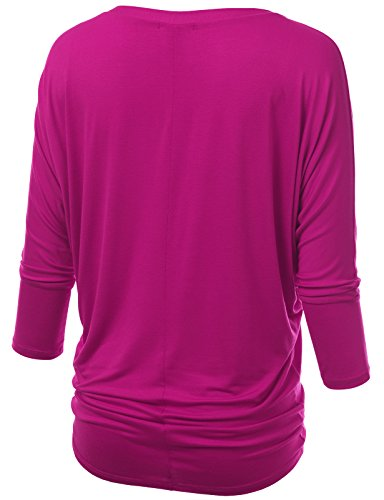 J.TOMSON Womens V-Neck & Crewneck 3/4 Dolman Sleeve Blouse