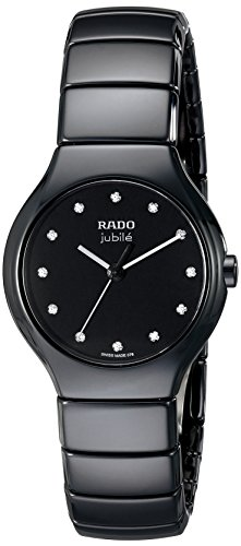 Rado Women's R27655762 True Jubile Analog Display Swiss Quartz Black Watch