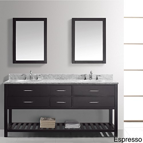 Virtu Md 2272 Wmsq Gr Caroline Estate Double Bathroom Vanity Cabinet Set  72   Grey