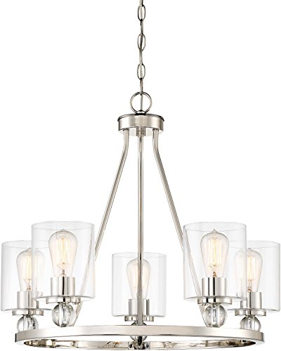 Minka Lavery Chandelier Pendant Lighting 3075-613 Studio 5 Dining Room Fixture, 5-Light 300 Watts, Polished -