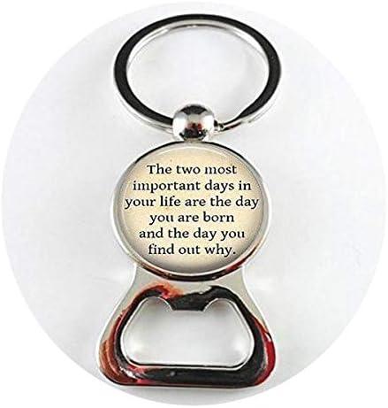 [해외]Mark Twain Quote Necklace Literature Necklace- Inspirational Bottle openers Literary Jewelry / Mark Twain Quote Necklace Literature Necklace- Inspirational Bottle openers Literary Jewelry